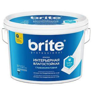 Краска Brite Professional интерьерная влагостойкая